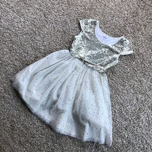 Beautiful Justice gold sequin holiday dress 14